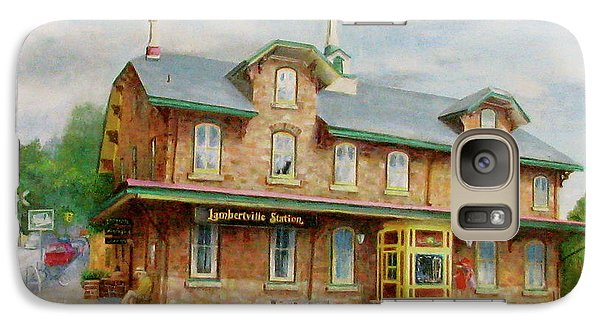 Galaxy Case featuring the painting Lambertville Inn by Oz Freedgood