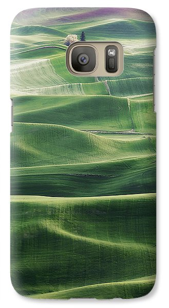 Galaxy Case featuring the photograph Land Waves by Ryan Manuel