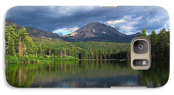 Galaxy Case featuring the digital art Lassen Peak  by Irina Hays