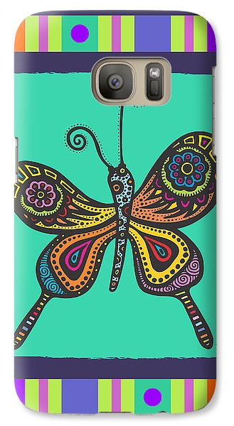 Galaxy Case featuring the drawing Learning To Fly by Tanielle Childers