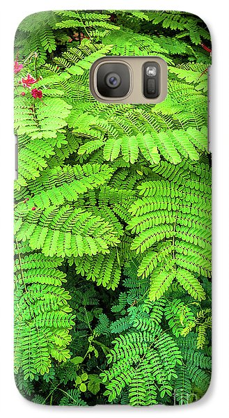 Galaxy Case featuring the photograph Leaves by Charuhas Images