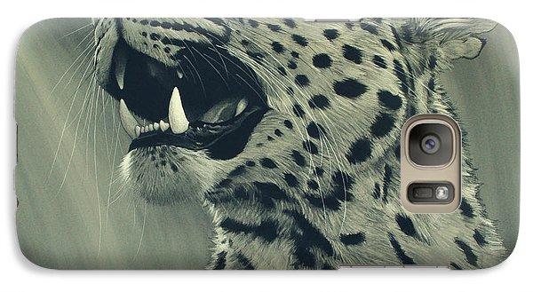 Galaxy Case featuring the digital art Leopard Portrait by Aaron Blaise