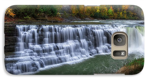Galaxy Case featuring the photograph Letchworth Lower Falls by Mark Papke