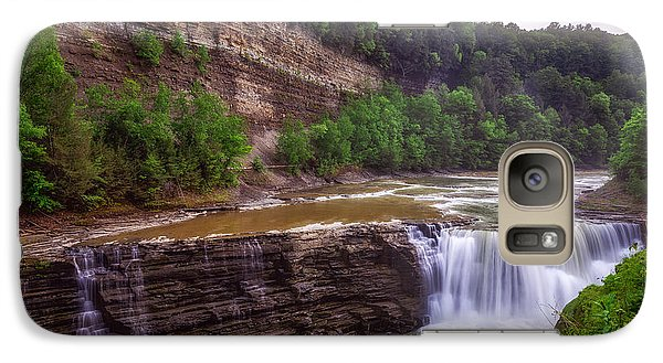 Galaxy Case featuring the photograph Letchworth State Park Lower Falls by Mark Papke