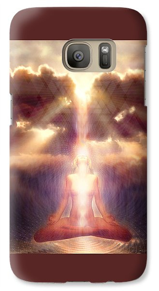 Galaxy Case featuring the painting Light Fall by Robby Donaghey
