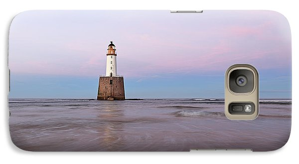Galaxy Case featuring the photograph Lighthouse Sunset by Grant Glendinning