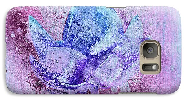 Galaxy Case featuring the digital art Lily My Lovely - S114sqc75v2 by Variance Collections