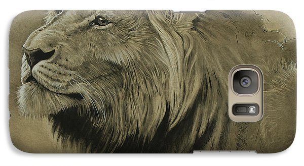 Galaxy Case featuring the digital art Lion Portrait by Aaron Blaise