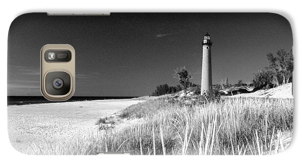 Galaxy Case featuring the photograph Little Sable Light Station - Film Scan by Larry Carr