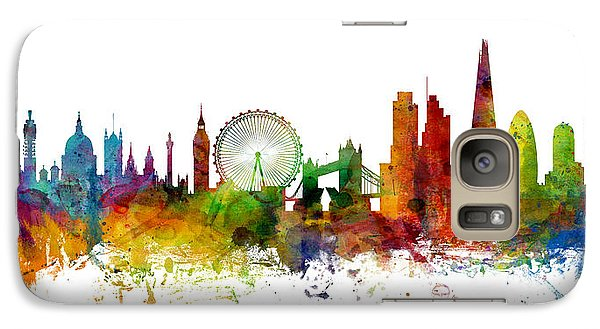 London England Skyline Panoramic Galaxy S7 Case by Michael Tompsett
