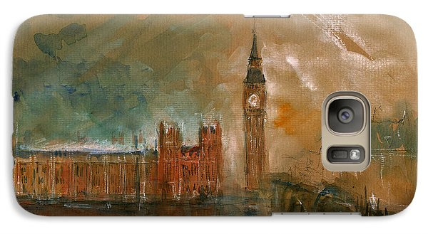 London Watercolor Painting Galaxy S7 Case