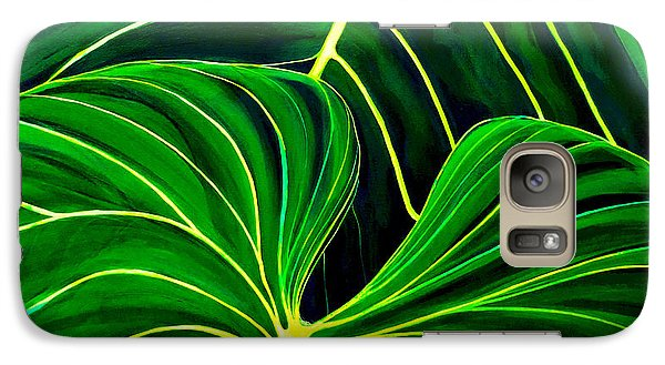 Galaxy Case featuring the painting Lovely Greens by Debbie Chamberlin
