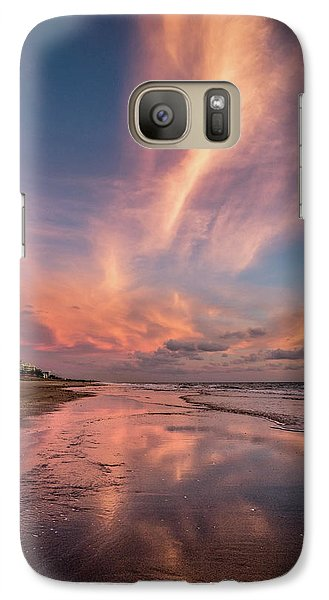 Galaxy Case featuring the photograph Low Tide Mirror by Debra and Dave Vanderlaan