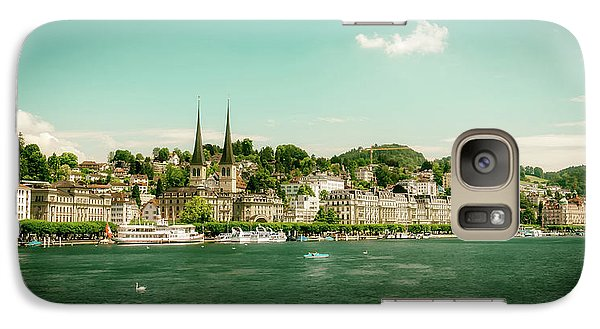 Galaxy Case featuring the photograph Lucerne Panorama by Wolfgang Vogt
