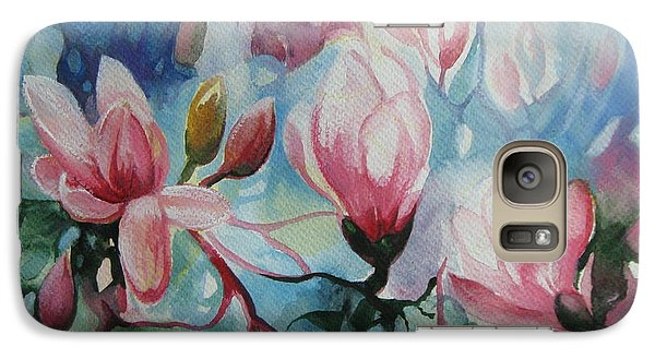 Galaxy Case featuring the painting Magnolia by Elena Oleniuc