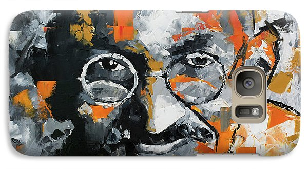 Galaxy Case featuring the painting Mahatma Gandhi by Richard Day