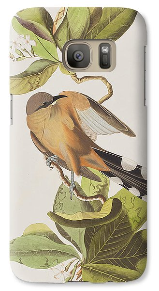 Mangrove Cuckoo Galaxy S7 Case by John James Audubon