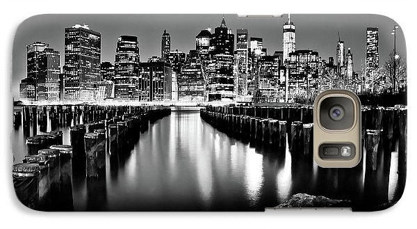 Galaxy Case featuring the photograph Manhattan Skyline At Night by Az Jackson