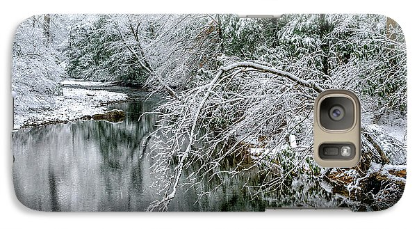 Galaxy Case featuring the photograph March Snow Cranberry River by Thomas R Fletcher