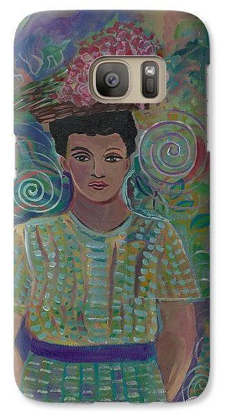 Galaxy Case featuring the painting Maria by John Keaton