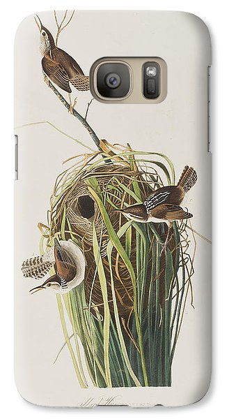 Marsh Wren  Galaxy S7 Case by John James Audubon