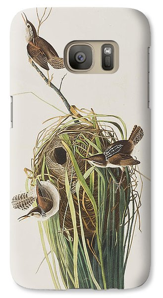 Marsh Wren  Galaxy Case by John James Audubon