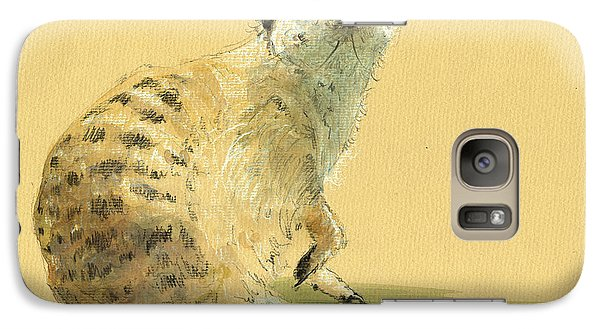 Meerkat Or Suricate Painting Galaxy S7 Case by Juan  Bosco
