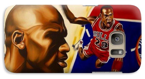 Galaxy Case featuring the painting Michael Jordan by Darryl Matthews