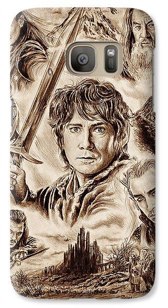 Orlando Bloom Galaxy S7 Case - Middle Earth by Andrew Read