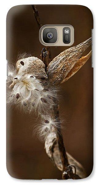 Galaxy Case featuring the photograph Milkweed Pod by Elsa Marie Santoro
