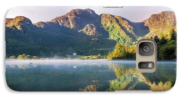 Galaxy Case featuring the photograph Misty Dawn Lake by Ian Mitchell