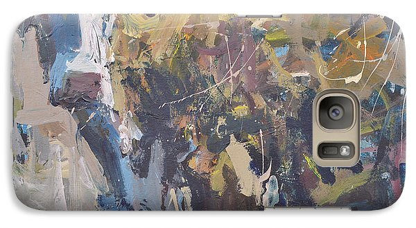 Galaxy Case featuring the painting Modern Abstract Cow Painting by Robert Joyner