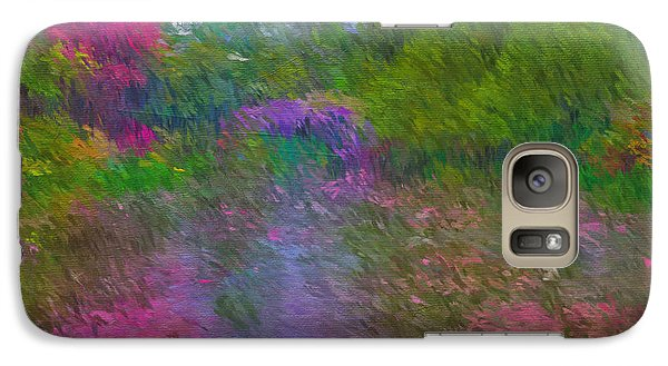 Galaxy Case featuring the mixed media Monet's Lily Pond by Jim  Hatch