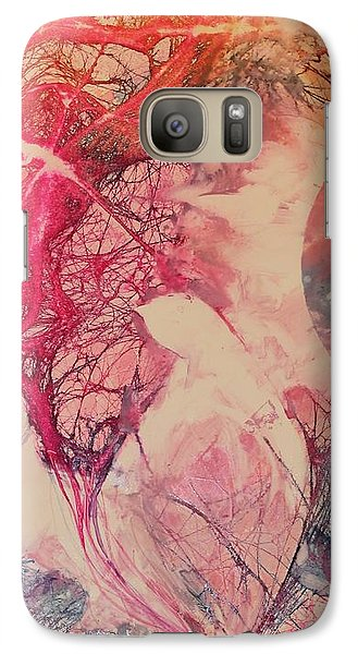 Galaxy Case featuring the painting Moonsong by Elizabeth Carr