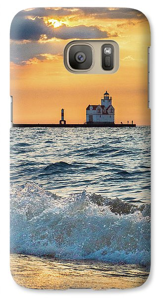 Galaxy S7 Case featuring the photograph Morning Dance On The Beach by Bill Pevlor
