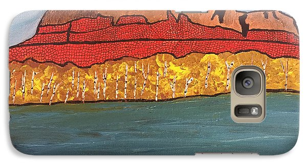 Galaxy Case featuring the painting Mount Mckay by Paula Brown