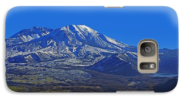 Galaxy Case featuring the photograph Mt St Helens by Jack Moskovita