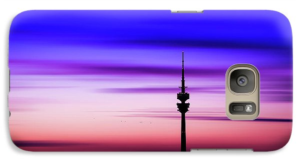 Galaxy Case featuring the photograph Munich - Olympiaturm At Sunset by Hannes Cmarits