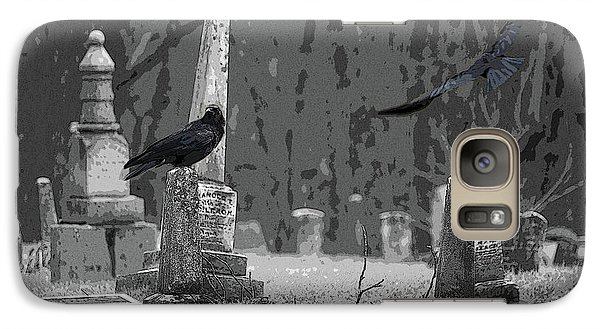 Galaxy Case featuring the photograph Murder Of Crows by Rowana Ray