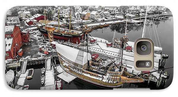 Galaxy Case featuring the photograph Mystic Seaport In Winter by Petr Hejl