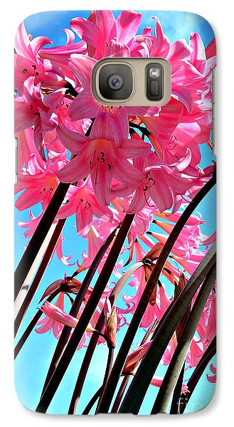 Galaxy Case featuring the photograph Naked Ladies by Vivian Krug Cotton