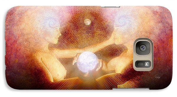 Galaxy Case featuring the painting Namaste by Robby Donaghey