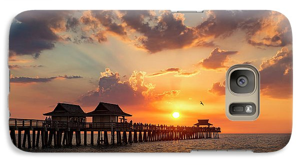 Galaxy Case featuring the photograph Naples Pier At Sunset by Brian Jannsen
