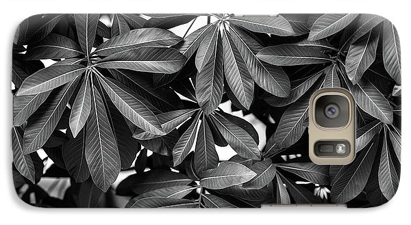 Galaxy Case featuring the photograph Nature Background, Green Leaves, Flowers In Natural Light And Sh by Jingjits Photography