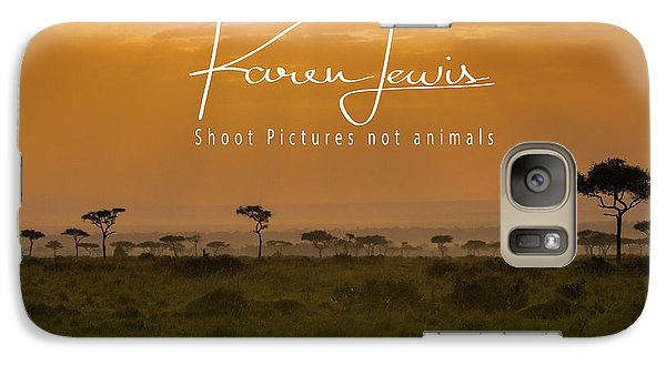 Galaxy Case featuring the photograph New Day On The Mara by Karen Lewis