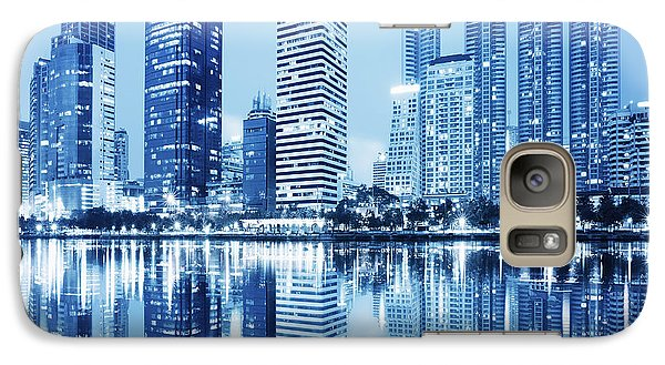 Night Scenes Of City Galaxy S7 Case by Setsiri Silapasuwanchai