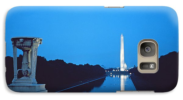 Night View Of The Washington Monument Across The National Mall Galaxy S7 Case by American School