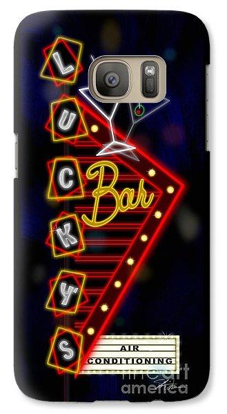 Nightclub Sign Luckys Bar Galaxy S7 Case