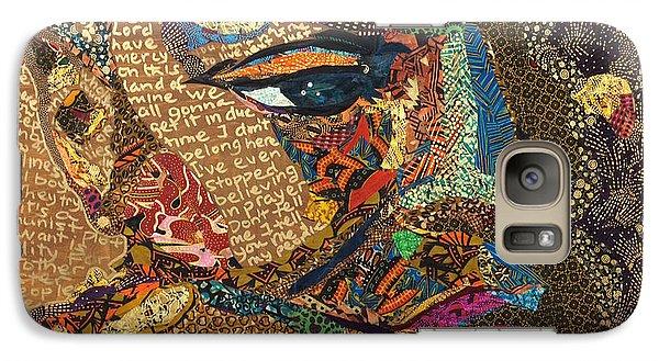 Galaxy Case featuring the tapestry - textile Nina Simone Fragmented- Mississippi Goddamn by Apanaki Temitayo M