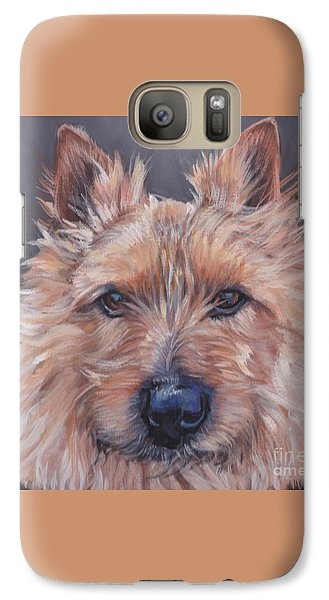 Galaxy Case featuring the painting Norwich Terrier by Lee Ann Shepard